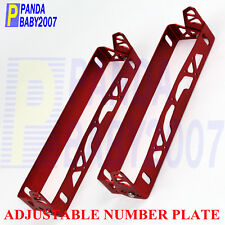ADJUSTABLE JDM NUMBER LICENSE FRAME PLATE BRACKET HOLDER PARA PLACA 210MM RD 2PC