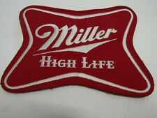 """LARGE VINTAGE MILLER HIGH LIFE PATCH SEW ON PATCHES 8""""X6"""" BEER LITE"""