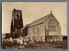 United Kingdom, Corton Church Vintage albumen print. Vintage England. Great Brit