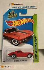 '64 Corvette Sting Ray #223 * RED * 2014  Hot Wheels * A21