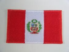 PERU PATCH Quality Embroidered Iron On PERUVIAN National Flag Badge NEW