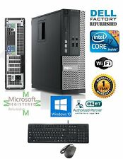 Dell Optiplex DESKTOP Intel i7 2600 3.40ghz 16GB 1TB Windows 10 hp 64 DVI