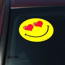 Car Dealer Windshield Stickers, Smiley Face w/ Hearts (6 packs)