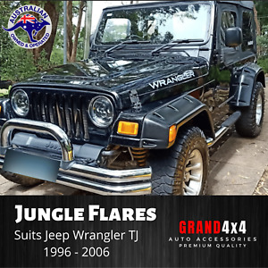 JUNGLE FENDER FLARES TO SUIT JEEP WRANGLER TJ 1996-2006 POCKET STYLE WHEEL ARCH