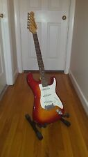 1996 G&L Legacy-Cherry Sunburst, Rosewood, OHSC, Excellent Condition - STUNNING!