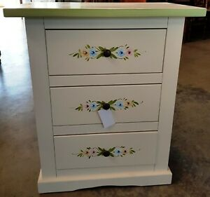 Chest of Drawers Bedside Table With Decorations CMS 60x35x70H