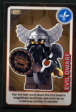 Evil Dwarf #77 Sainsbury's Create The World Lego Minifigures Card (C381)
