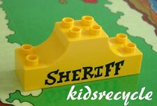 Lego DUPLO Special PICTURE Brick SHERIFF Cowboy NEW