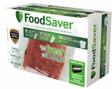 "Genuine FOODSAVER Brand Vacuum Seal Sealer Combo Pack Bags 8"" & 11"" wide Rolls"