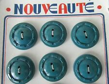 mercerie ancienne 3 boutons 20 MM bois peint@buttons OLDS