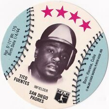 Tito Fuentes San Diego Padres 1976 MLB Baseball Disk