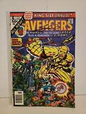 Avengers Annual #6 Signed George Perez Herb Trimpe 1st Nuklo 1976 Living Laser