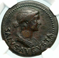 LIVIA wife of Augustus 22AD Rome Ancient Roman Coin of TIBERIUS NGC i84773