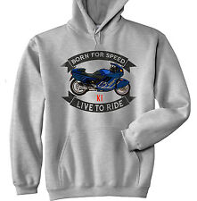 BMW K1 - GREY HOODIE - ALL SIZES IN STOCK