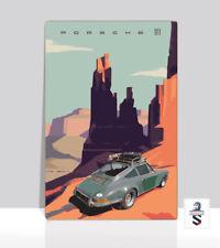 "Green Porsche 911 Carrera. Monument Valley Classic 911 Poster Aluminum 36""x 24"""