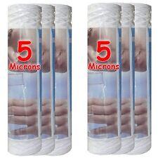 """Cartouche filtre à eau 10"""" 5 µm bobinée sédiments-particules-boue (lot de 6)"""