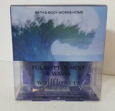 Bath and Body Works Eucalyptus & Waves Wallflower 2 Bulbs Replacements NEW