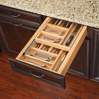 """Rev-A-Shelf Face Frame Two-Tier Soft-Close Cutlery Drawer Box, 12"""" to 21"""" Widths"""