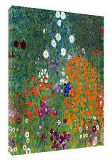 Gustav KLIMT Cottage Garden 1907 Pintura al Óleo Lienzo Enmarcado reimpresión en Pared Arte Hom