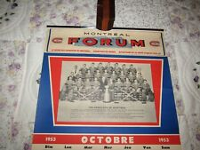 MONTREAL CANADIENS  Calendar  EXCELLENT Sweet Caporal  1953