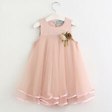 Kids Flower Girl Tutu Dress Toddler Baby Princess Party Wedding Tulle Gown 2017