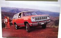 1974 Dodge Ramcharger Dealer Promotional Post Card Mailer First Year 4 X 4 Truck