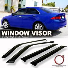 Fit 04-08 Acura Tsx Sedan Window Vent Sun Shade Rain Guard Visors 4-Door Cl9