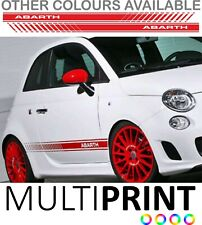 Abarth Fiat 500 595 Punto Spider Side Stripes Graphic Decal Sticker Livery FIA3
