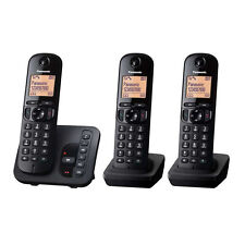 Panasonic KX-TGC 223 GB, Schnurlostelefon mit AB und 2 zusätzlichen Mobilteilen