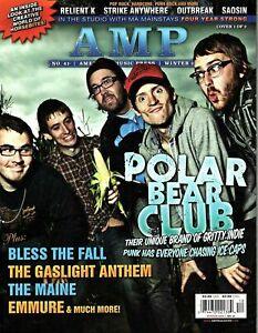 Amp Magazine Winter 2009 - Cover 1 of 2 - Polar Bear Club, The Gaslight Anthem