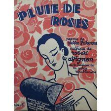 AVIGNON Robert Pluie de Roses Chant Piano 1929 partition sheet music score