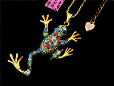 Pendant Betsey Johnson Necklace Jewelry Multi-Color Fashion Crystal Retro Frog