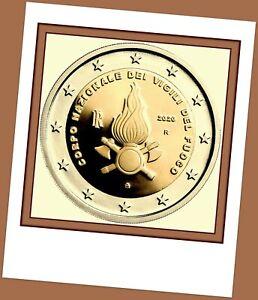 2 Euro Gedenkmünze Italien 2020 - 80 Jahre Feuerwehr Italien-