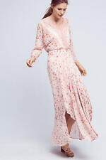 NWT SZ PETITE 6P ANTHROPOLOGIE VARINA MAXI DRESS BY HD IN PARIS PINK POLYESTER