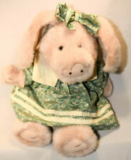 Boyds Bears: Rosie - Pink Pig with Green Dress & Bow - 12 inch Plush