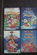 4  CARTOON DVD'S 3 ARE CHRISTMAS ONES