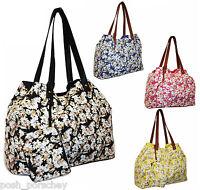 Ladies Canvas Beach Shoulder Bag Purse Summer Holiday Re Usable Shopper Handbag