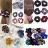 4pcs Velvet Scrunchies Velvet Hair Ring Elastic Stretch Hair tie Ponytail Holder