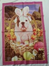 Easter Spring Bunny Pug Dog Yard Banner Willabee & Ward Cloth Poster 40 x 28