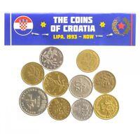LOT OF 10 MIXED COLLECTIBLE CROATIA COINS LIPA, KUNA 1993 - 2018