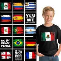 Youth Soccer Shirts 2018 Brazil Argentina Germany Mexico Spain Soccer T Shirt