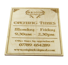 Shop Door Sign Personalised Opening Times