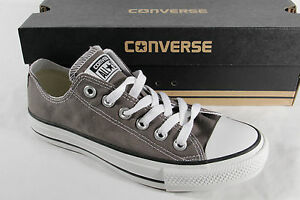 Converse All Star Lace Up Sneakers Trainers, Grey, Textile/Canvas, New
