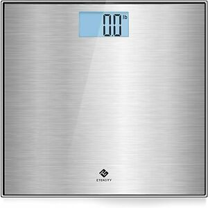 Stainless Steel Digital Body Weight Bathroom Scale, Step-On Technology