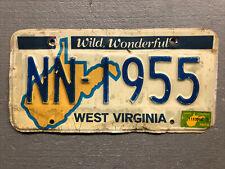 VINTAGE WEST VIRGINIA LICENSE PLATE WILD WONDERFUL NN-1955 1978 STICKER COOL!!