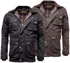 Mens Game Utilitas Waxed Cotton Multi Pocket Wax Jacket