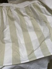 Rachel Ashwell Shabby Chic Couture Bed Skirt Dust Ruffle Queen Taupe White