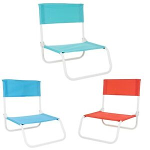 Foldable Beach Chair Lightweight Portable Picnic Stool Camping Deck Seat Outdoor