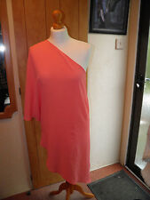 New Ladies Womens Salmon Pink off shoulder,one sleeve top Sz 8 - 10 S TopShop