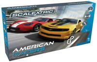 Scalextric American Racers -Corvette VS Camaro Set 1:32 Slot Car Race Set C1364T